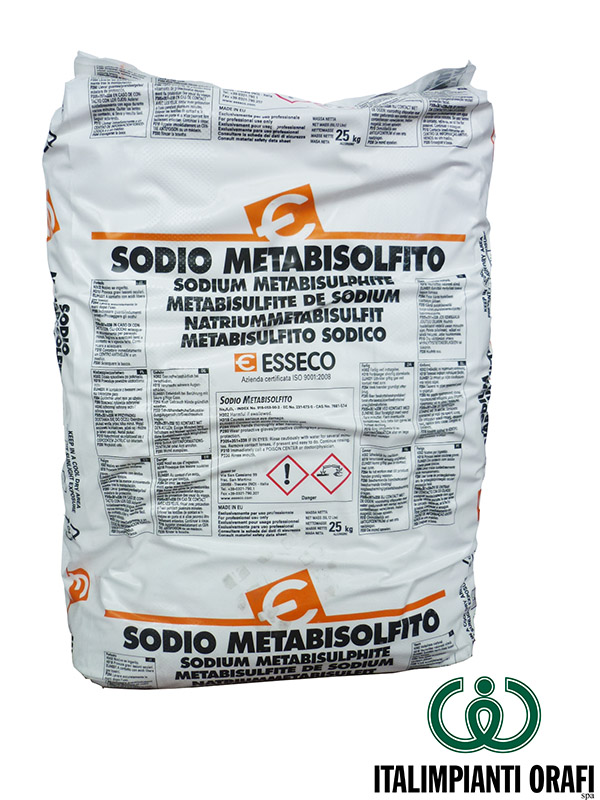 Sodio metabisolfito italtec for Bisulfite de sodium piscine